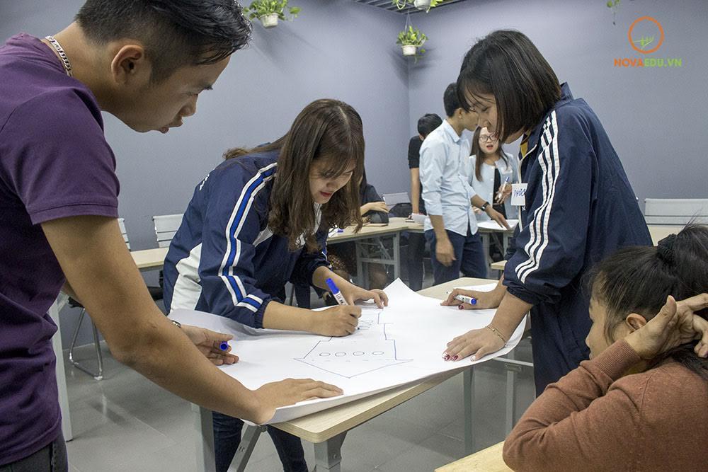 Các thành viên tích cực đang tham gia làm việc nhóm hiệu quả
