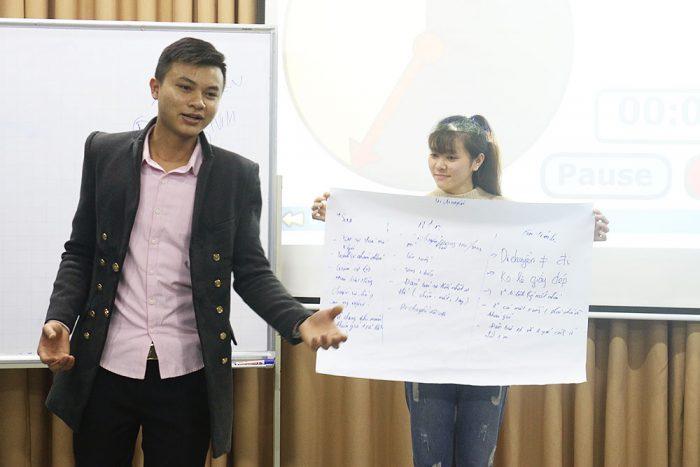 Một khóa học thuyết trình tại Novaedu