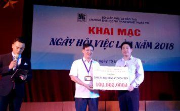 CEO Đỗ Mạnh Hùng - Giáo đốc Novaedu tặng 20 suất học bổng trị giá 100 triệu cho trường ĐHSP Nghệ thuật TW