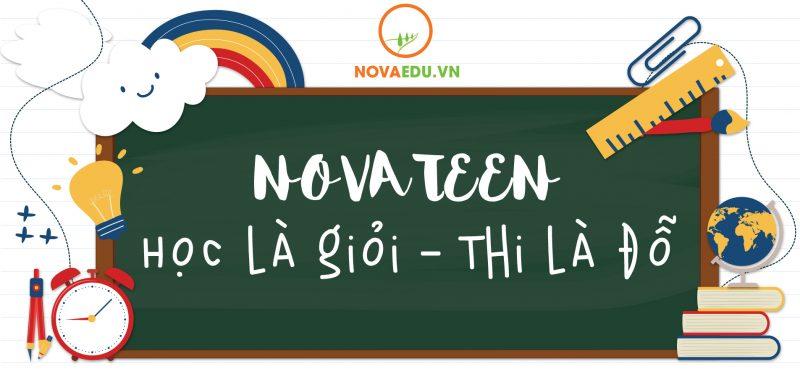Học là giỏi thi là đỗ chính là Novateen