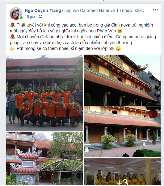 """Bạn Ngô Quỳnh Trang - Học viên lớp """"Kỹ năng toàn diện"""" Spro.107"""