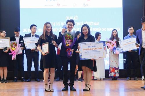 Dự án YouthMentor giành giải nhất toàn quốc cuộc thi Khởi nghiệp sáng tạo xã hội VSIC 2018 .