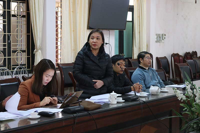 Đại diện các đơn vị Trường Đại học Thái nguyên tham gia phát biểu ý kiến