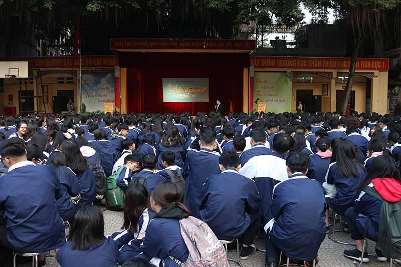 Toàn cảnh buổi đào tạo khởi nghiệp cho học sinh cho trường THPT Trần Phú