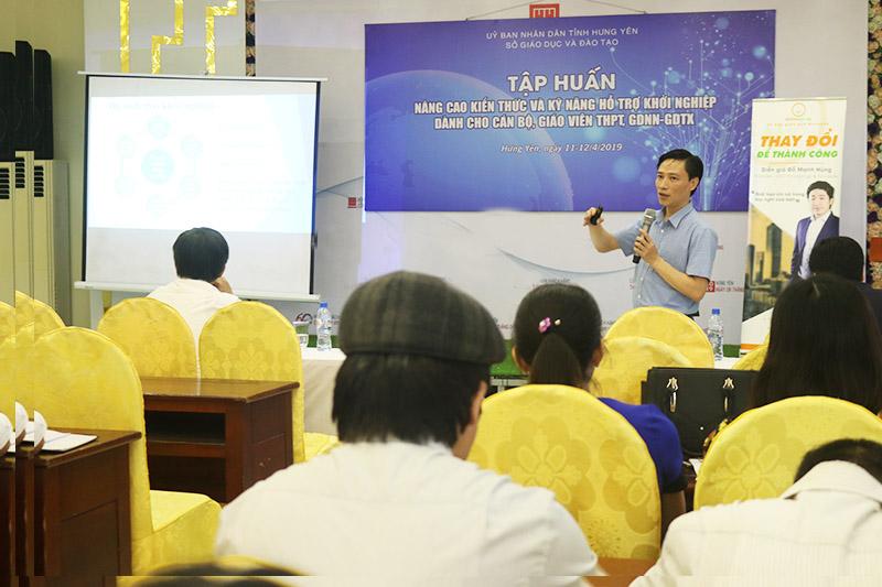 Ông Bùi Tiến Dũng: Khởi nghiệp sẽ tạo động lực học tập rèn luyện cho học sinh