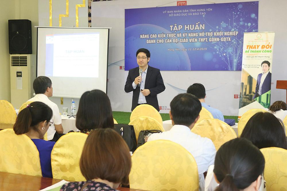 """Chuyên gia - CEO Đỗ Mạnh Hùng: """"Khởi nghiệp sẽ tạo cho học sinh Kỹ năng toàn diện- nền tảng cốt lõi để Khởi nghiệp thành công"""""""