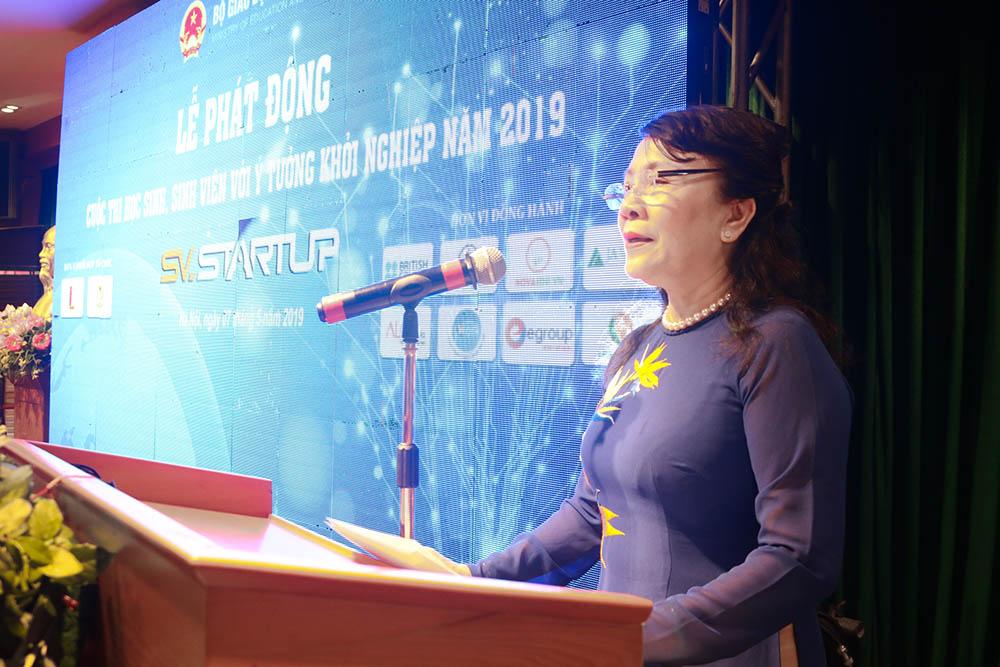 Thứ trưởng Bộ GD&ĐT Nguyễn Thi Nghĩa lên phát động cuộc thi Học sinh sinh viên với ý tưởng khởi nghiệp SV Startup 2019