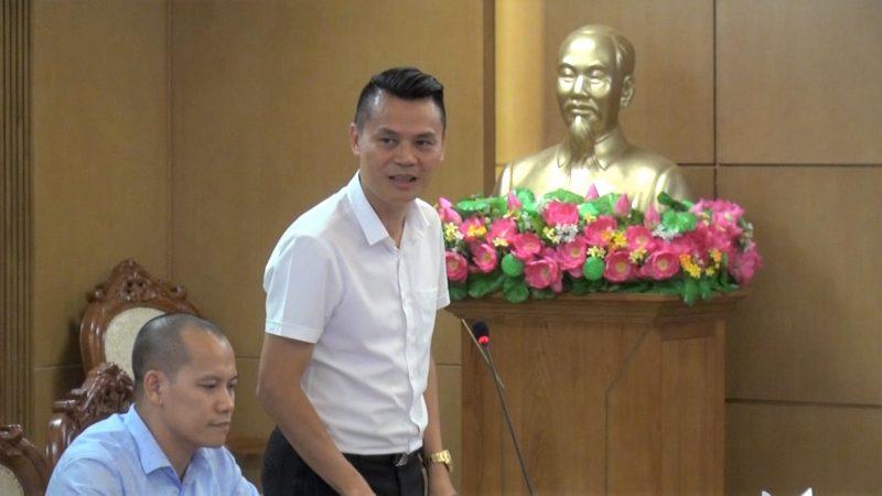 Đại diện của hội Doanh nghiệp trẻ Hà Nội.