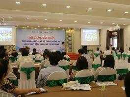 Hội thảo tập huấn triển khai công tác xã hội và các hoạt động tư vấn hỗ trợ học sinh cho các Sở Giáo dục và Đào tạo khu vực miền Trung - Tây Nguyên.