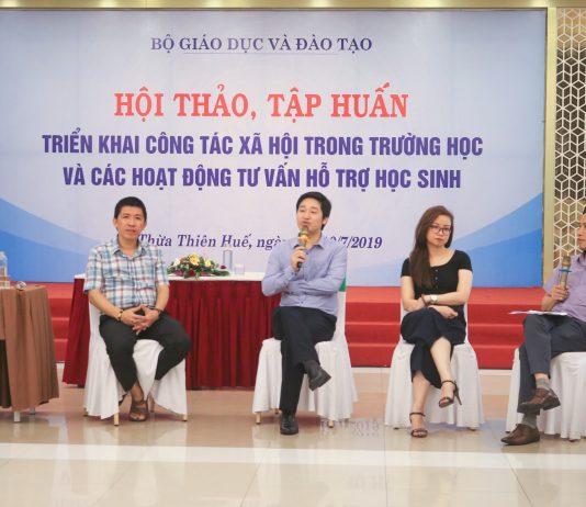 Hội thảo tập huấn triển khai công tác xã hội trong trường học và hỗ trợ học sinh khởi nghiệp tại Huế.