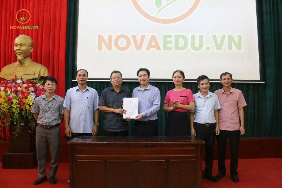 Ký kết hợp tác giữa Novaedu và sở Giáo dục và Đào tạo tỉnh Ninh Bình.