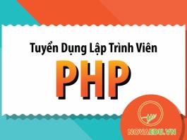 Novaedu tuyển dụng Lập trình viên PHP