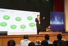 CEO Đỗ Mạnh Hùng với vai trò là điều phối viên trong diễn đàn truyền cảm hứng khởi nghiệp cho HSSV: Kinh nghiệm từ các doanh nhân khởi nghiệp