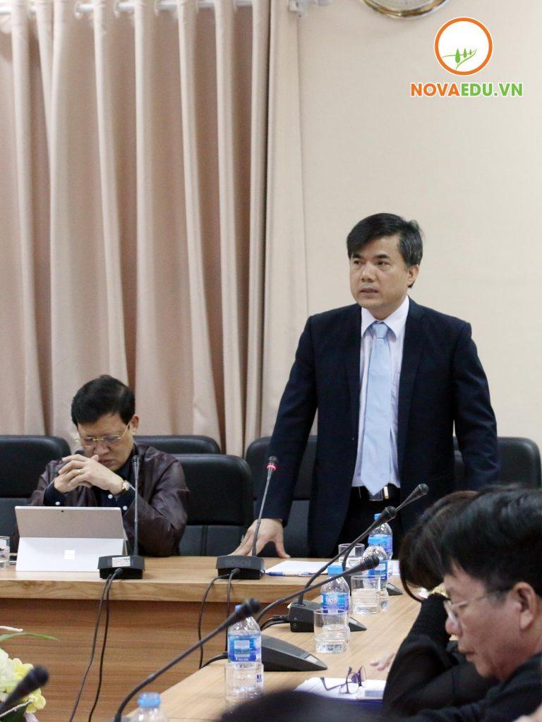 TS.Bùi Văn Linh Vụ trưởng Vụ GDCT&CTHSSV phát biểu chỉ đạo, định hướng nội dung, nhiệm vụ để triển khai thực hiện đề án.